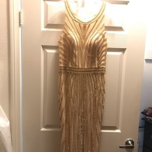 Beautiful Gold dress worn ones